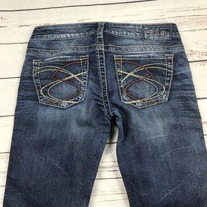 Women's Silver Size 28 Frances Slim Boot Jeans